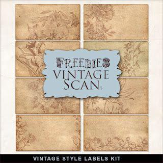 Freebies Vintage Style Labels Kit Vintage Labels Printables Digital Paper Freebie Free Labels