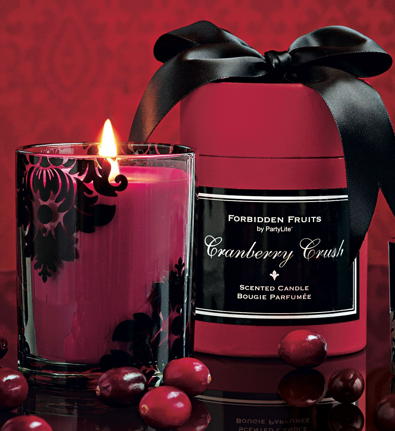 New Fragrance Forbidden Fruits Cranberry Crush Available July 22 Partylite Party Lite Candles Candles Partylite