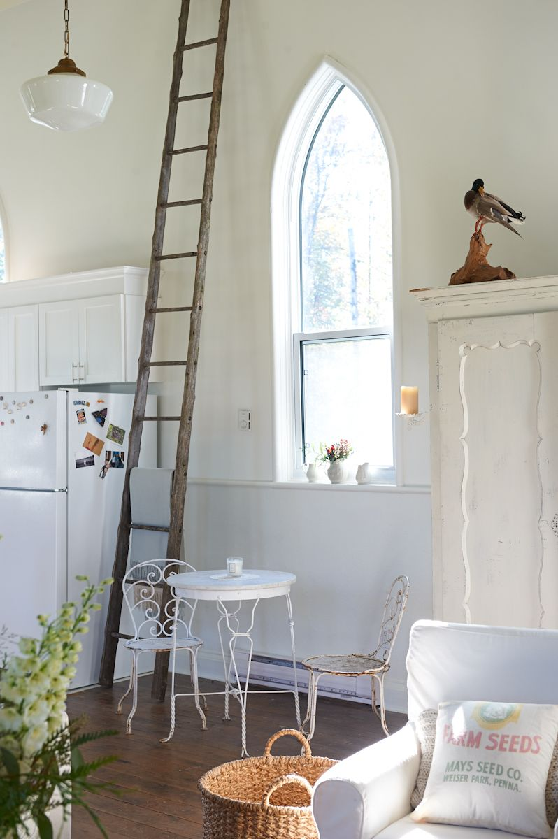 Peek inside a floral designer\'s gorgeous converted rural church ...