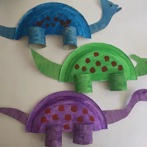 Dinosaur Paper Plate Craft for Toddlers and Preschoolers