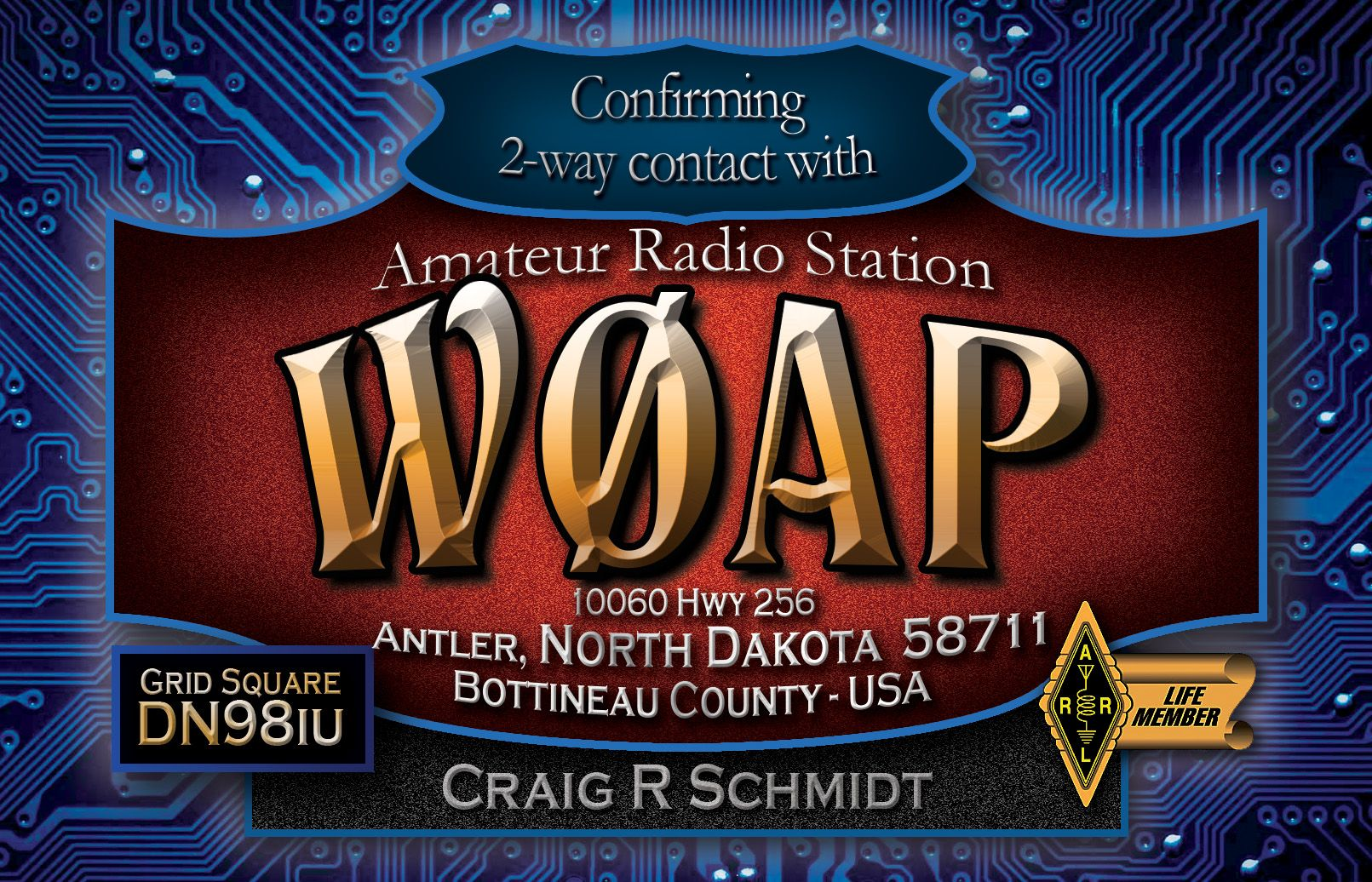 With Amateur radio vanity call signs your phrase