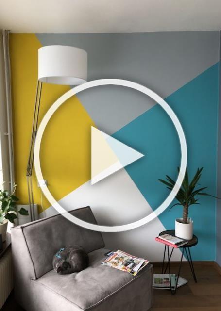 20  Amazing Geomatric Wall Art Paint You Can Try #eweddingmag #HomeDecorationIdeas #HomeDesign #HomeInteriorDesign