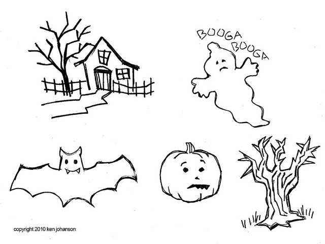 Love the house and tree in particular Halloween Patterns From - patterns for halloween decorations