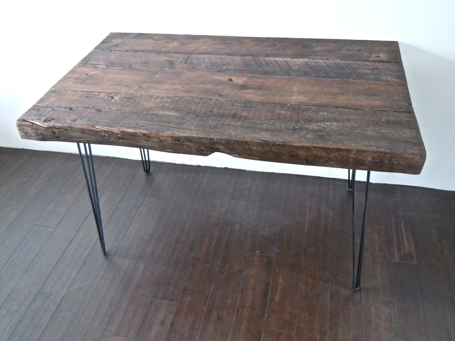 love love love this reclaimed wood desk with hairpin legs - Love Love Love This Reclaimed Wood Desk With Hairpin Legs Wood
