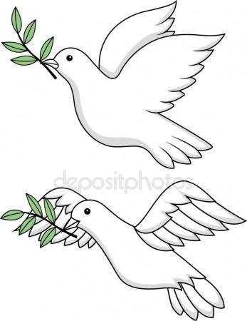Beyaz Guvercin Sembolu Stok Illustrasyon 10353496 Cicek Suslemeli Pastalar Kus Cizimleri Doodle Desenleri