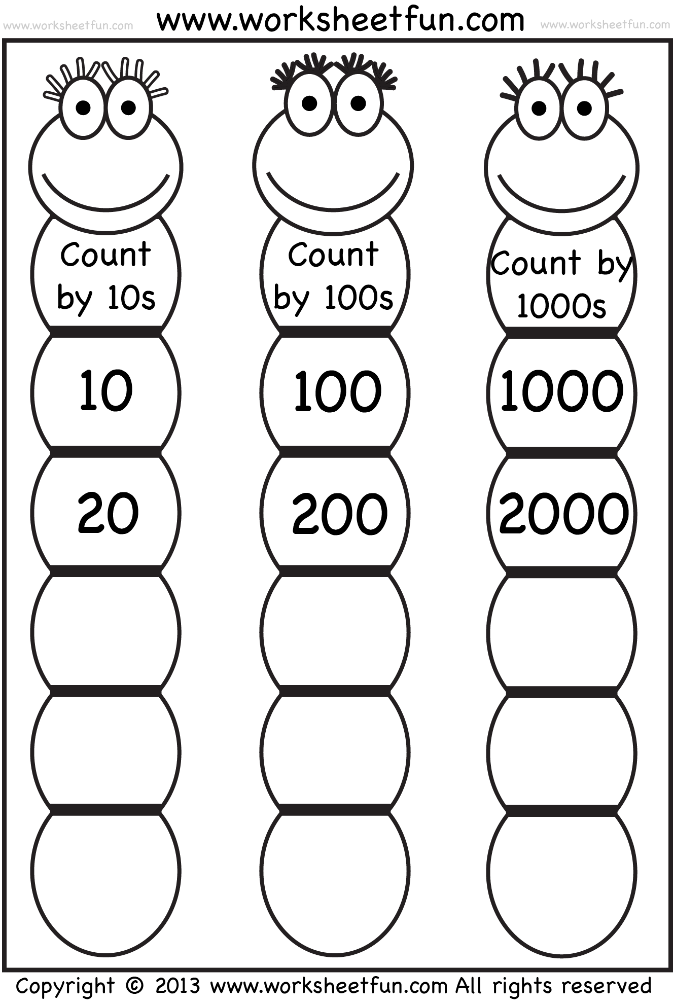 Skip Counting By 10 100 And Free Printable