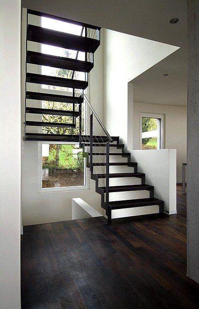 escalier ferro double limon m tallique en cr maill re escaliers pinterest cremaillere. Black Bedroom Furniture Sets. Home Design Ideas