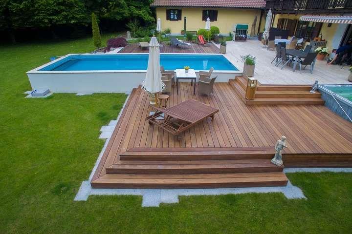 18+ Terrasse Mit Pool #poolselberbauen