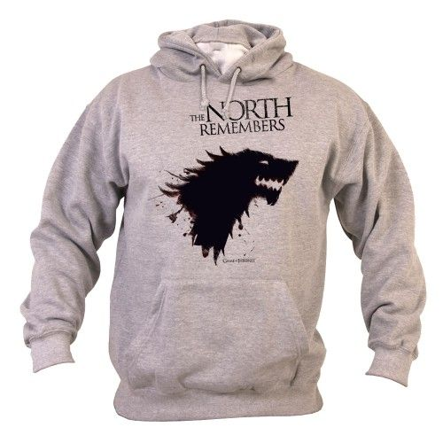 game of thrones the north remembers sweat capuche. Black Bedroom Furniture Sets. Home Design Ideas