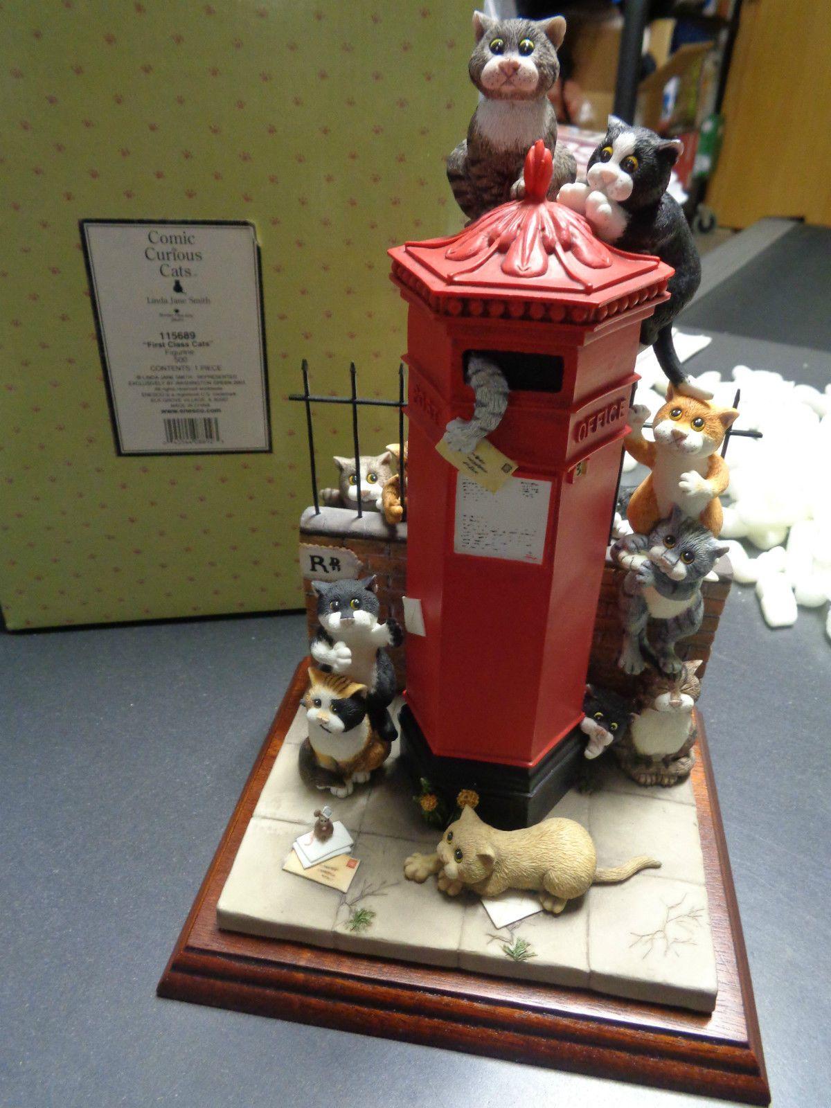 Border Fine Arts Comic & Curious Cats First Class Mailbox