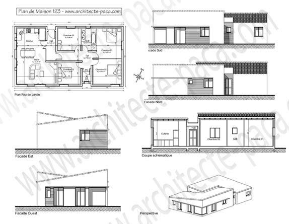 telecharger plan maison plain pied 123 dossier complet - Hauteur D Une Maison Plein Pied