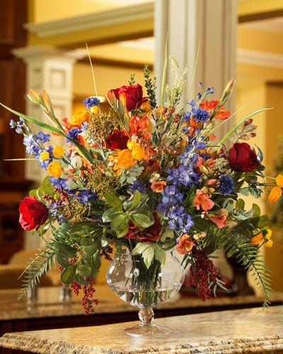 Glorious Gardensilk Flower Centerpiece Silk Flower Centerpieces Large Flower Arrangements Silk Flower Arrangements