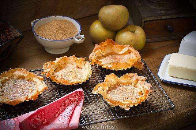 Tarta de manzana f cil y crujiente by webos fritos via flickr tartas desserts sweet - Ana cocina facil ...