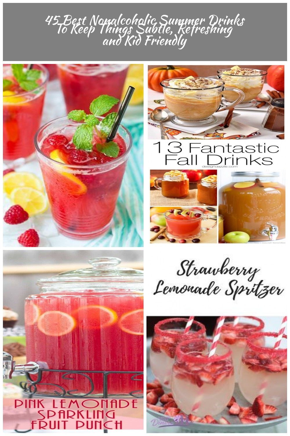 45 Best Nonalcoholic Summer Drinks To Keep Things Refreshing and Kid Friendly drinks Nonalcoholic 45 Best Nonalcoholic Summer Drinks To Keep Things Subtle, Refreshing and Kid Friendly #nonalcoholicsummerdrinks