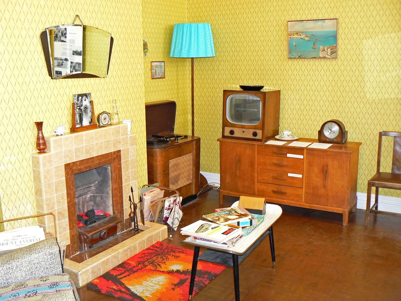Living Room 1950s 1950s room at the museum of lynn life in king's lynn, norfolk. the