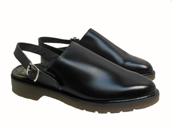 8d6b5c27c4d Vintage Dr Martens Shoes From England Mens Black Leather Doc Martens DM  Sandals Mens US size 10