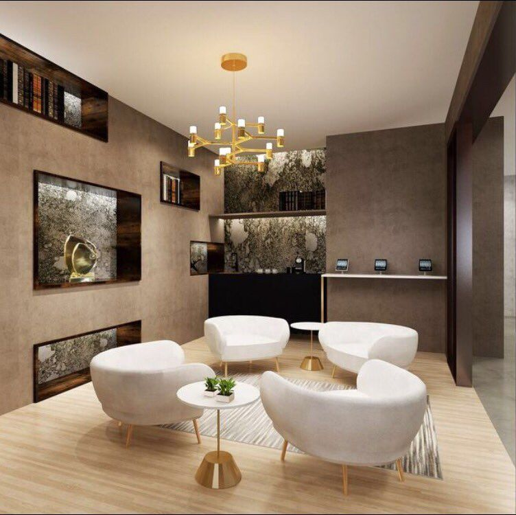 Parlor lounge design for our residential building project in