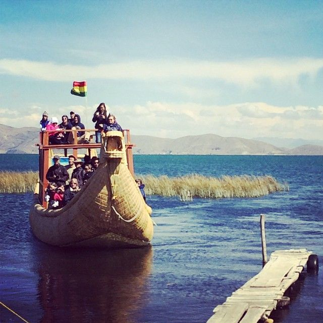 "On a recent Compassion trip to #Bolivia, our group got a chance to ride around Lake Titicaca in a ""Barco Tortora"". This uniquely crafted boat is made out of water reeds! We're always impressed to see the resourcefulness of people around the world who do so much with seemingly so little. (Photo: Becca Browning)"