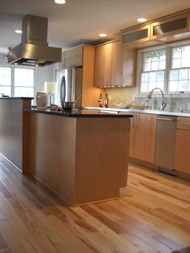Natural Hickory Floor Design Ideas, Pictures, Remodel and Decor