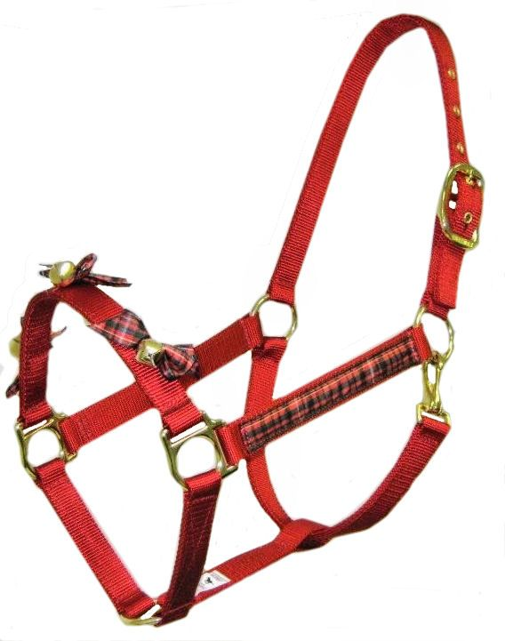 Christmas Horse Tack.Jingle Bells Halter For Christmas Divine Equine Horse