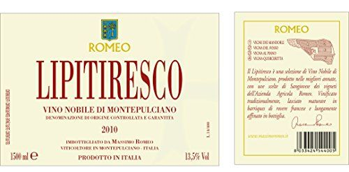 """2010 Massimo Romeo Estates """"Lipitiresco"""" Vino Nobilé di Montepulciano DOCG 1.5L ** Details can be found by clicking on the image."""