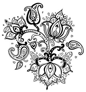 Amazingly exquisite free printable coloring pages of flowers dessin coloriage pinterest - Coloriage fleur de lotus ...