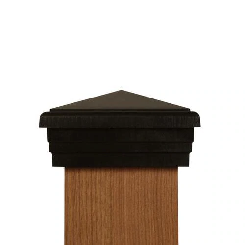Atlanta Post Caps American Made Four By Four Black Pyramid Post Cap For Wooden Posts Https Www Atlantapostcaps Com 4 Fence Post Caps Post Cap Wooden Posts