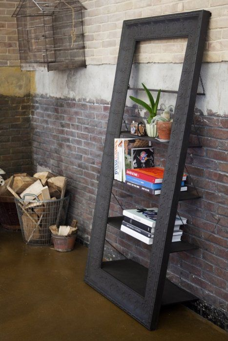industrile boekenkast zwart metaal rootsmann