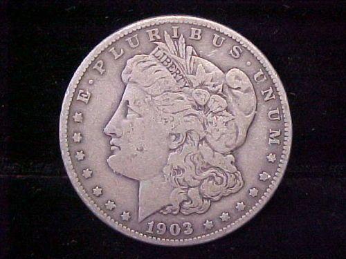 1903 S Scarce Date Morgan Silver Dollar 1 Fine Condition Great
