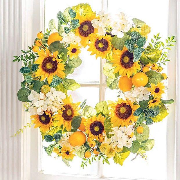 Photo of Lemon and Sunflower Wreath