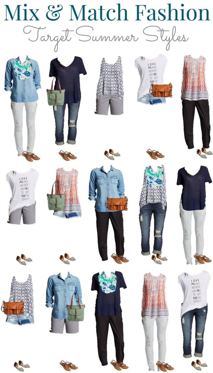 Target Summer into fall Mix and Match Wardrobe. See how to start ...