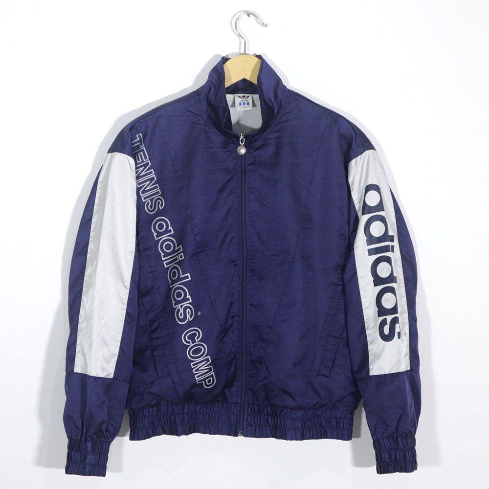 Vintage 80s 90s Adidas Tennis Comp Tracktop Windbreaker Jacket Etsy In 2020 Streetwear Fashion Women Streetwear Fashion Sports Wear Fashion
