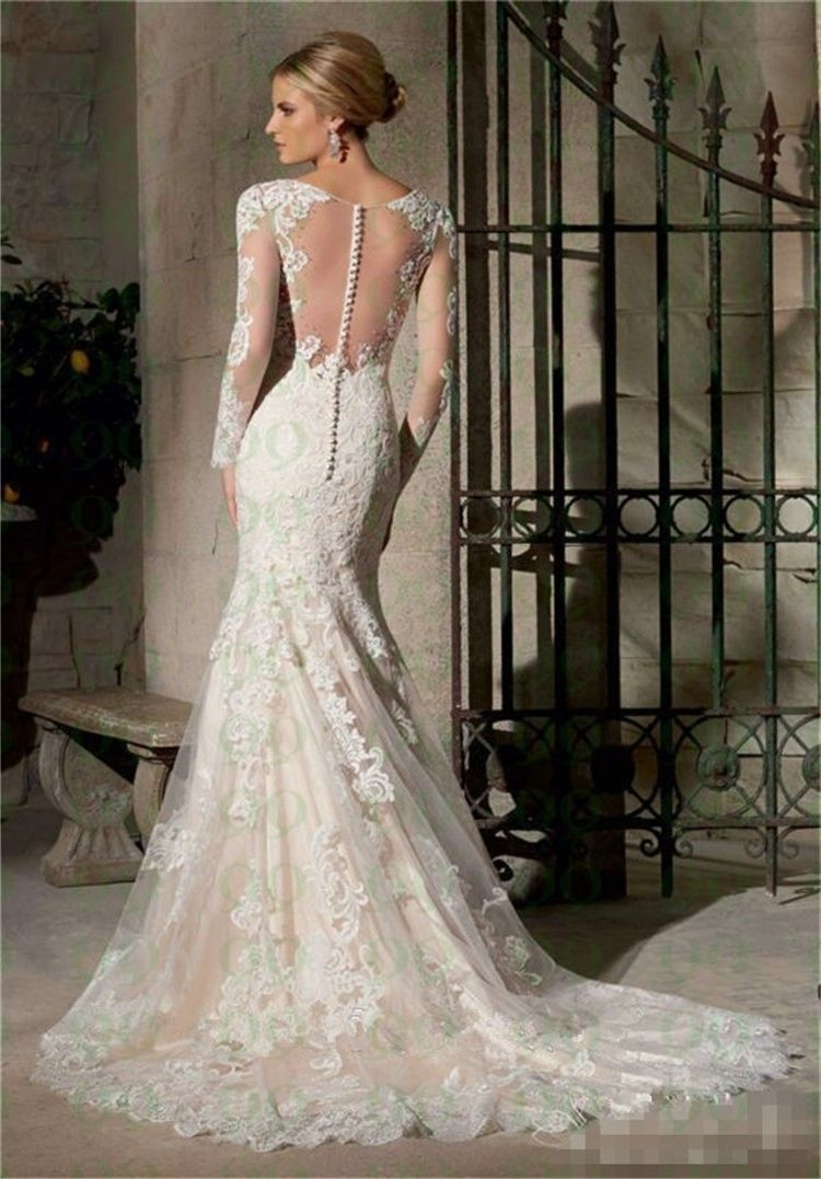 Down Back Wedding Dress