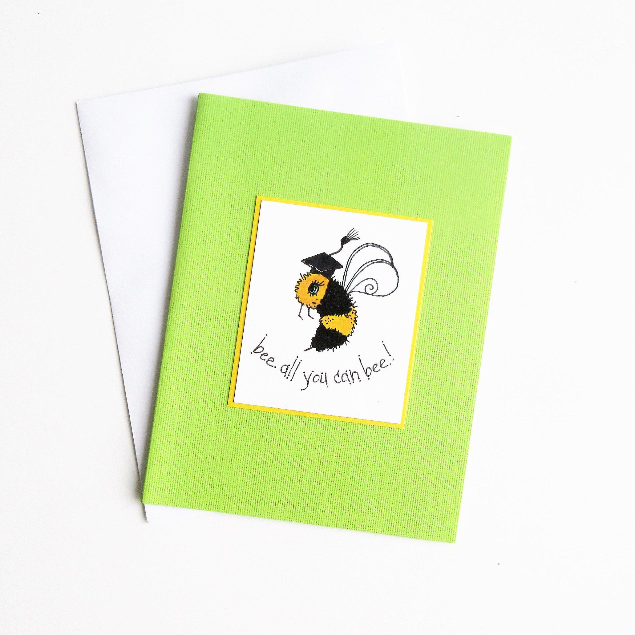 Bumblebee cards grad cards bee illustration bee cards