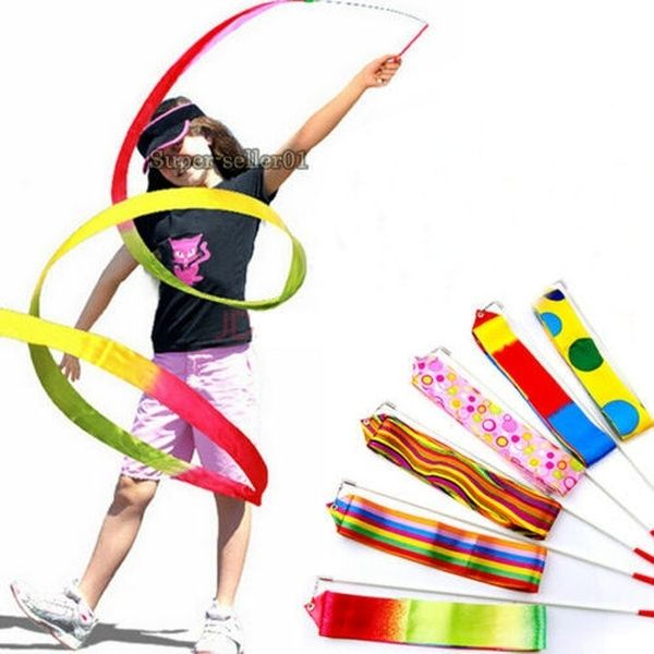 Photo of Gymnastic Equipment Dance Ribbon Art Gymnastic Ballet Streamer Twirling Sporting | Wish