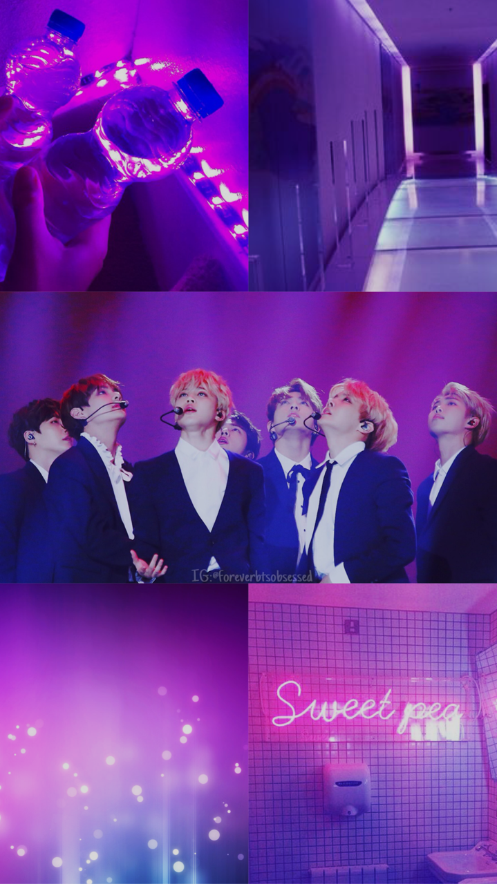 Purple Wallpaper Aesthetic Bts