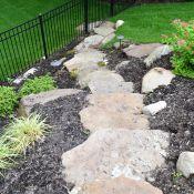 Belgium Blocks Full Color Bluestone Pattern Bluestone Caps Tennessee Gray Irregular Moss Rock Boulders Ful Landscape Projects Decorative Gravel Backyard Design