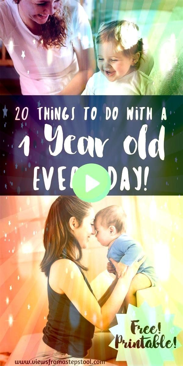 wondering what to do with a 1 year old all day long This list of 20 activities for 1 year olds that you can do every day will take out the guess workLeft wondering what t...