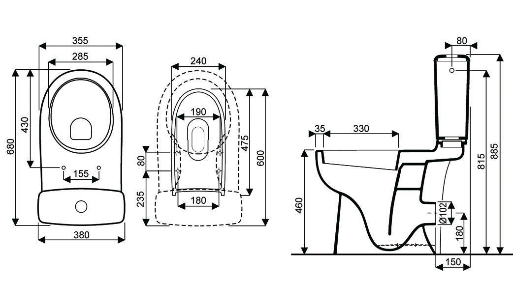 pack wc sureleve complet dito2 reservoir et cuvette. Black Bedroom Furniture Sets. Home Design Ideas