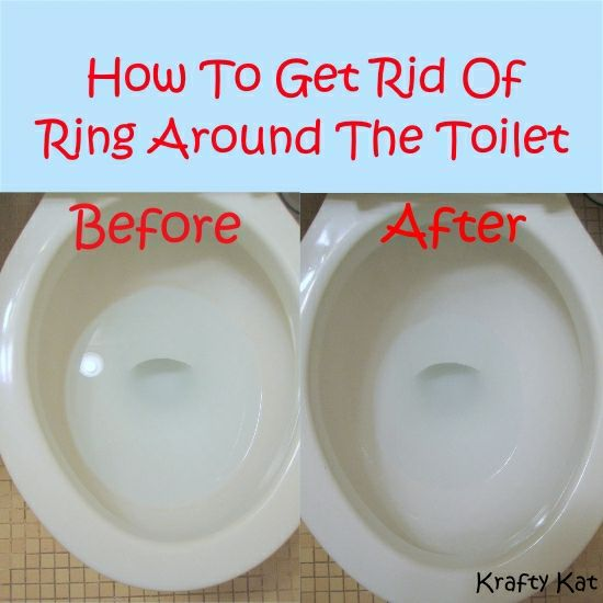 How To Get Rid Of The Ring Around The Toilet Cleaning Hacks