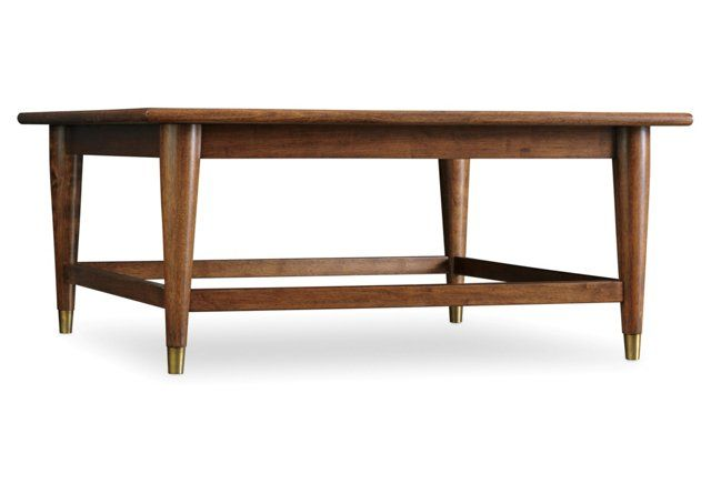 Double Latte Square Coffee Table Walnut 335 39 Quot X 39