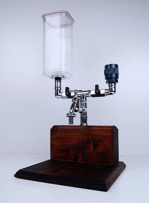 dispensador de alcohol de madera hecho a mano mezclador negocio y pinterest. Black Bedroom Furniture Sets. Home Design Ideas