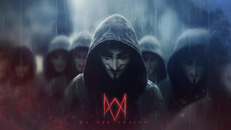 Ultra Hd Wallpaper Watch Dogs Legion Logo Anonymous 4k 3