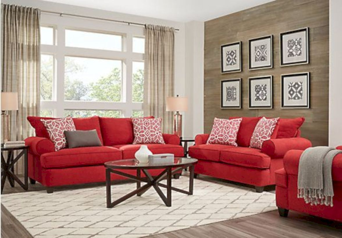 52 Affordable Living Room Decoration Ideas Red Sofa Living Room