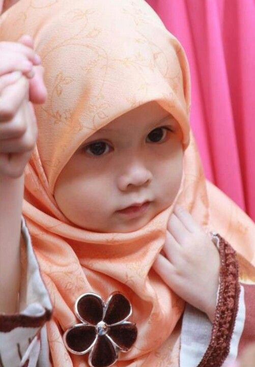 image result for muslim cute baby in hijab children are gifts of