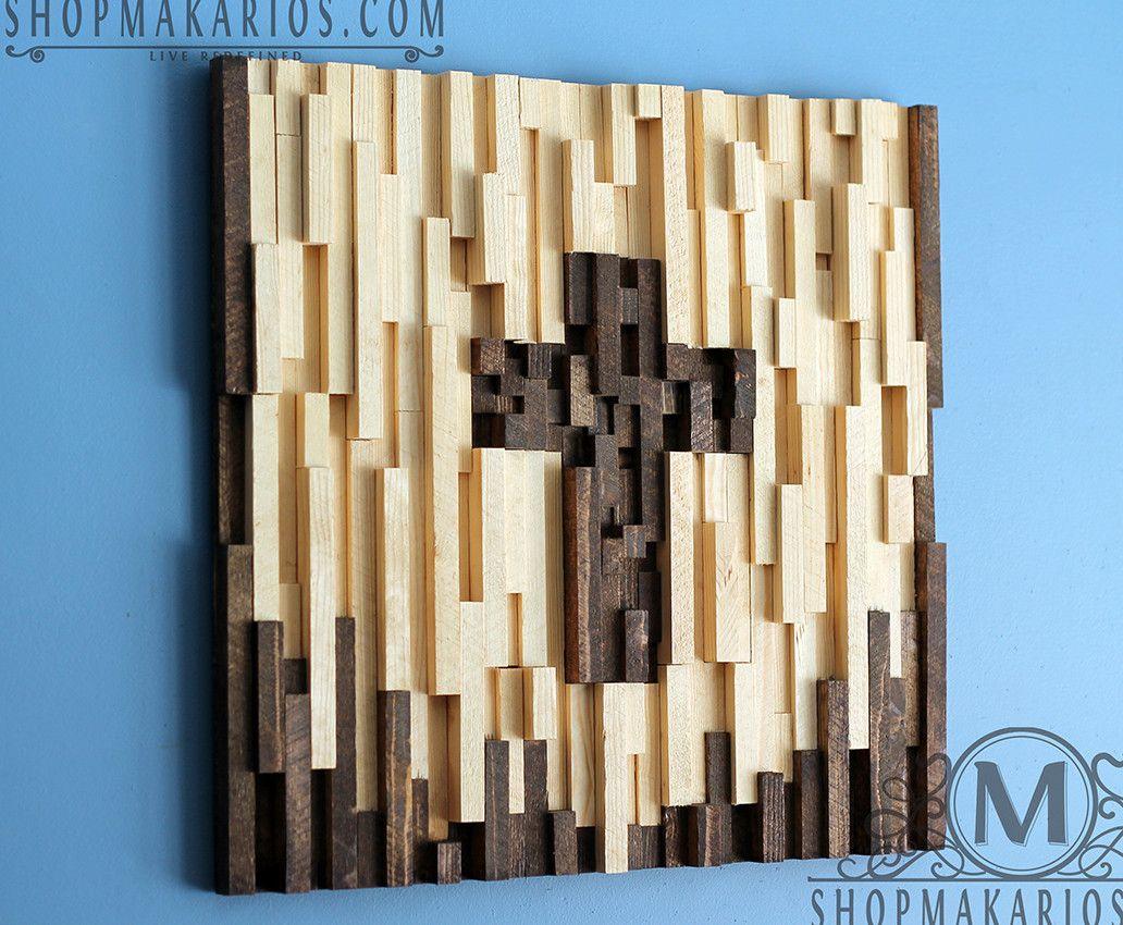 Wood tile cross reclaimed wood art wood art and woods wood tile cross amipublicfo Gallery