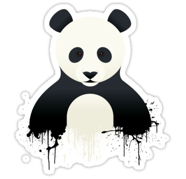 Panda graffiti stickers by mark walker redbubble