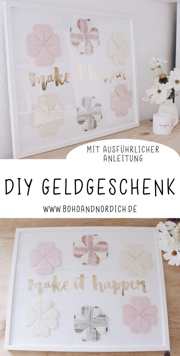 DIY Geldgeschenk selber machen - Geld kreativ verschenken #diygeburtstagsgeschenke