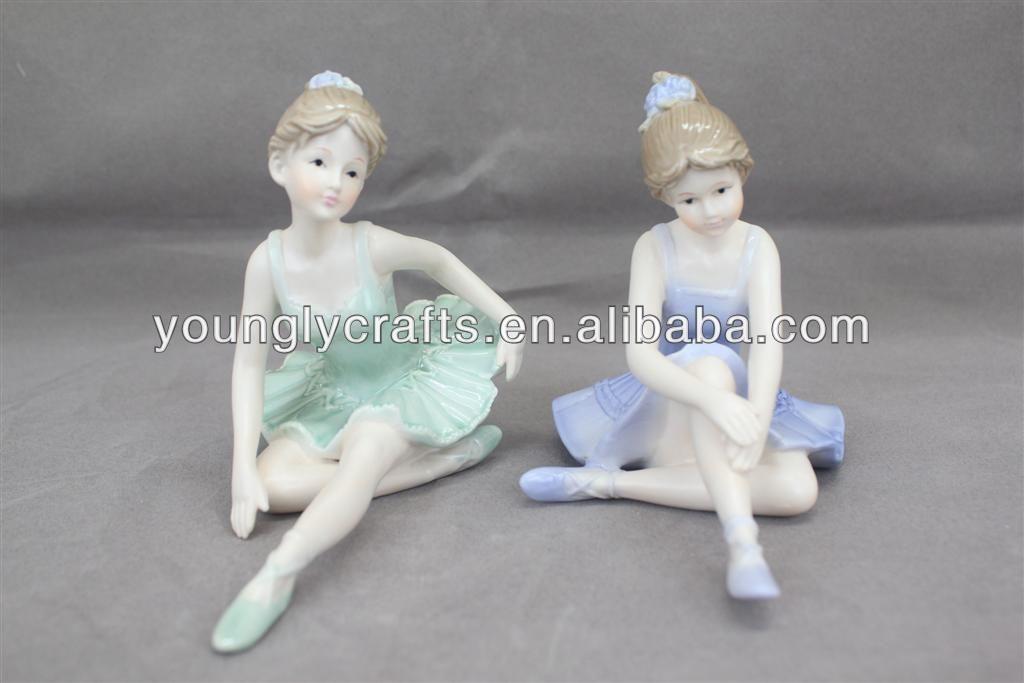 Porcelain Ballerina Dolls Ballerina Ornament For Home