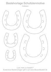 DYI Bastelvorlage für eine Pferdeschultüte zum Ausdrucken